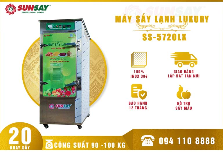 Máy sấy lạnh 20 khay SS-5720LX