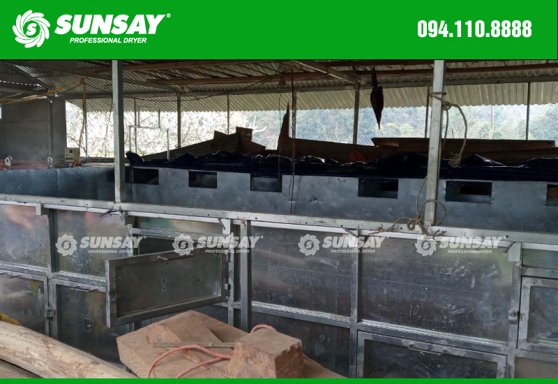 Máy sấy vĩ ngang 6 tấn tại Cao Bằng